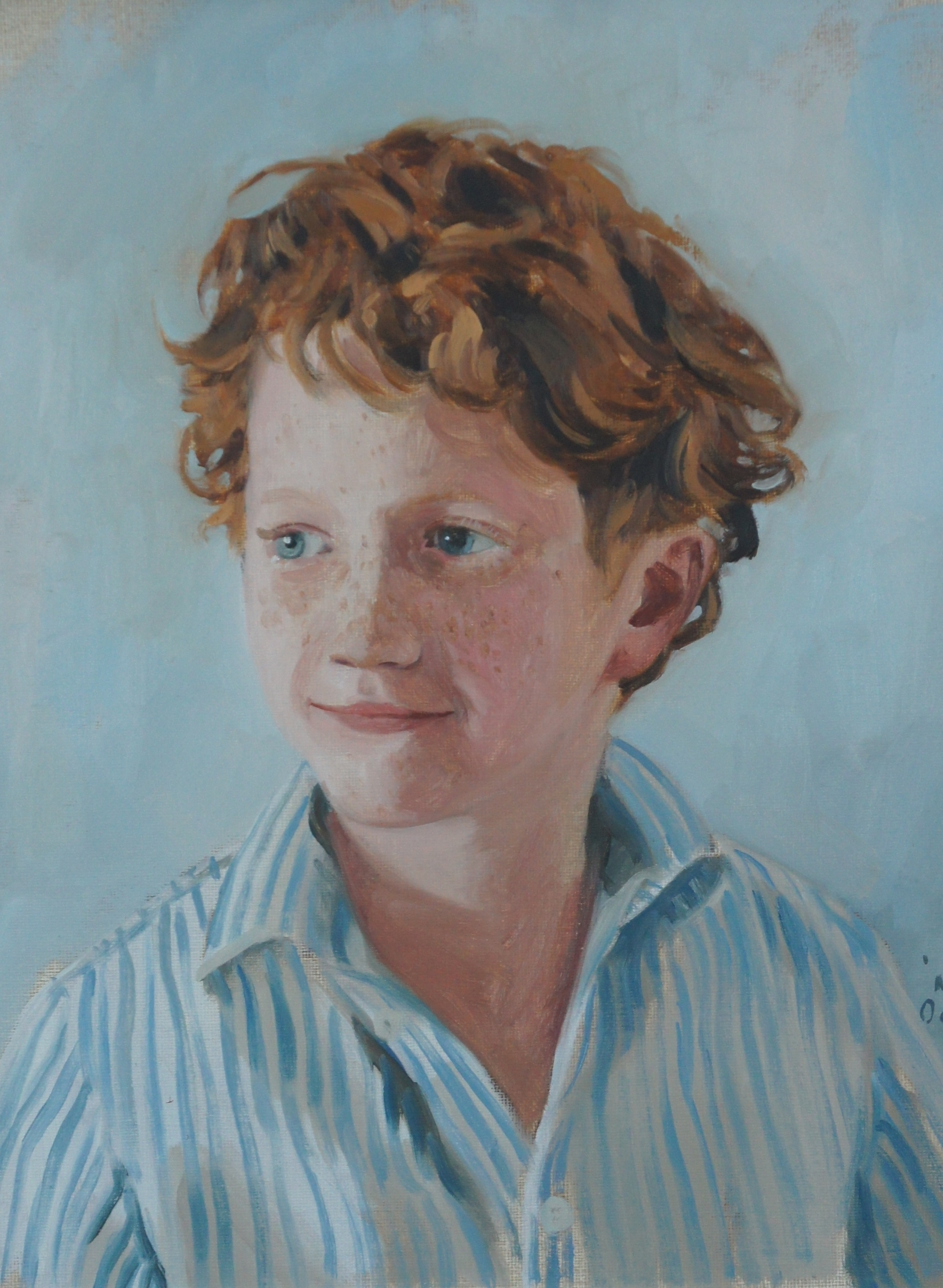 Ranulph, oil on board, 14 x 12in | © Samuel Francis Portraits