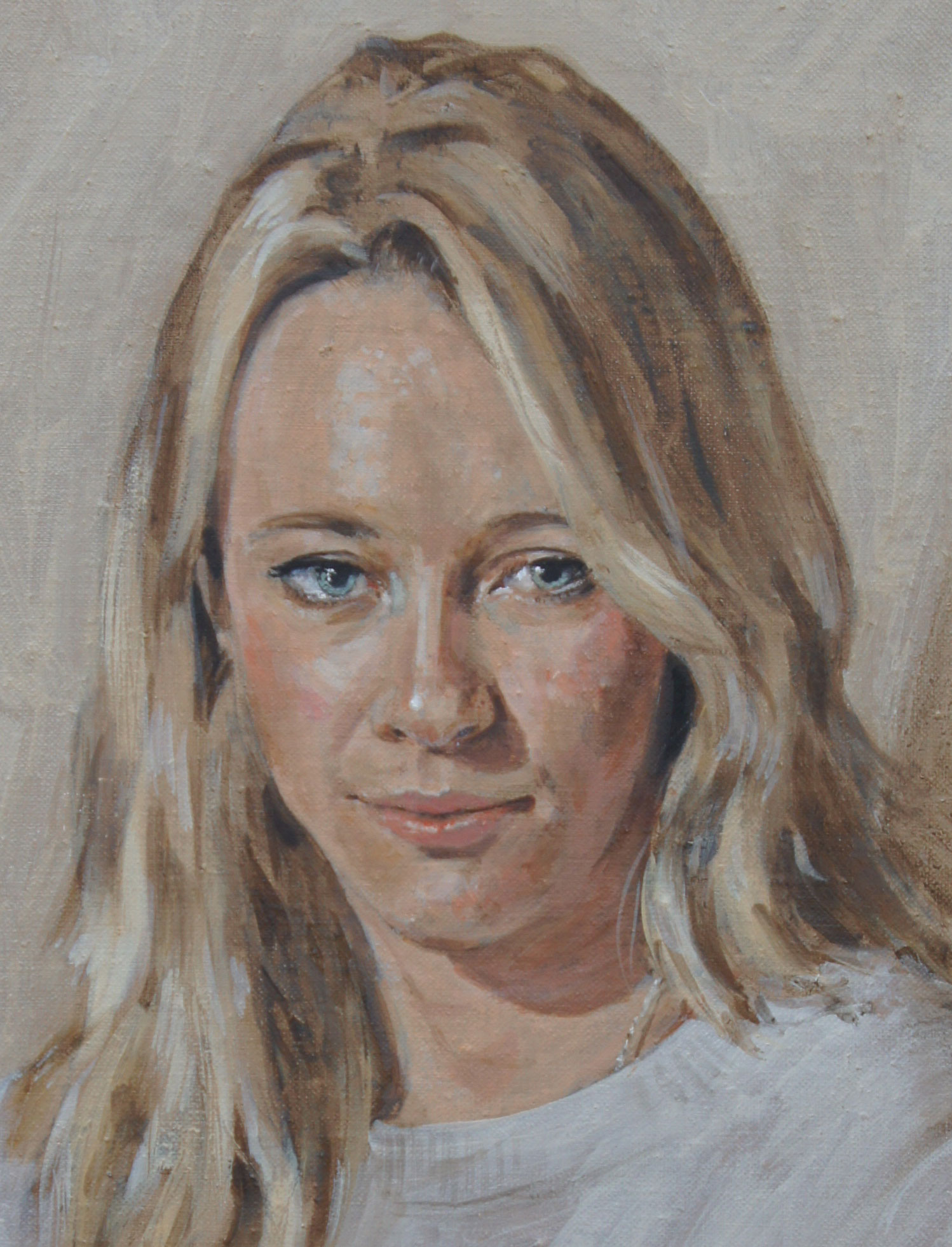 Caroline, oil on canvas, 16 x 14in | © Samuel Francis Portraits